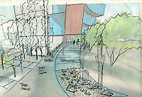 University of Arizona Tree-Ring Laboratory--Concept. This is the preeminent center for the advancement of tree-ring techniques. Joy Lyndes, Landscape Architect.