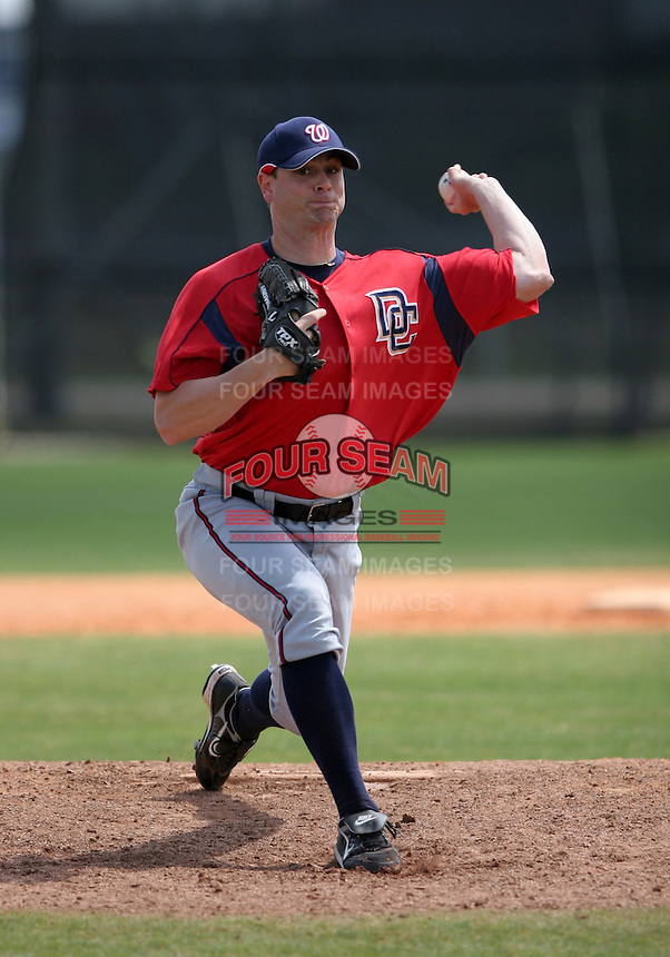 Washington Nationals minor leaguer Gene Yost during Spring Training at the Carl Barger Training Complex on March 20, 2007 in Melbourne, Florida.  (Mike Janes/Four Seam Images)