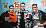 "Nick Kohn with Avenue Q & Puppetry Fans during ""Avenue Q"" Celebrates World Puppetry Day at The New World Stages on 3/21/2019 in New York City."