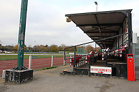 The seated stand on the East Side of the ground - AFC Hornchurch vs Wingate & Finchley - Ryman League Premier Division Football at Hornchurch Stadium, Bridge Avenue, Upminster, Essex - 30/11/13 - MANDATORY CREDIT: Gavin Ellis/TGSPHOTO - Self billing applies where appropriate - 0845 094 6026 - contact@tgsphoto.co.uk - NO UNPAID USE