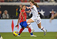 JACKSONVILLE, FL - NOVEMBER 10: Andi Sullivan #25 of the United States moves with the ball during a game between Costa Rica and USWNT at TIAA Bank Field on November 10, 2019 in Jacksonville, Florida.