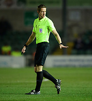 Referee John Brooks<br /> <br /> Photographer Chris Vaughan/CameraSport<br /> <br /> The EFL Sky Bet League Two - Lincoln City v Exeter City - Tuesday 26th February 2019 - Sincil Bank - Lincoln<br /> <br /> World Copyright © 2019 CameraSport. All rights reserved. 43 Linden Ave. Countesthorpe. Leicester. England. LE8 5PG - Tel: +44 (0) 116 277 4147 - admin@camerasport.com - www.camerasport.com