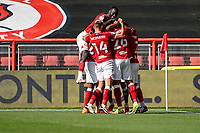 12th September 2020; Ashton Gate Stadium, Bristol, England; English Football League Championship Football, Bristol City versus Coventry City; Bristol City team celebrate Jamie Paterson scoring in the 1st minute for a 1-0 lead