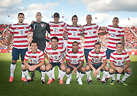 03 June 2012: The US Men's National Soccer Team starting eleven during an international friendly soccer match between the United States Men's National Soccer Team and the Canadian Men's National Soccer Team at BMO Field in Toronto..The game ended in 0-0 draw..