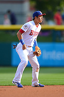 Buffalo Bisons second baseman Munenori Kawasaki (66) during a game against the Pawtucket Red Sox on August 4, 2013 at Coca-Cola Field in Buffalo, New York.  Pawtucket defeated Buffalo 8-1.  (Mike Janes/Four Seam Images)
