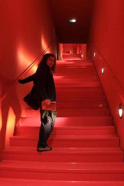 Beth at the Architectural Museum at the Palais de Chaillot and Jardin du Trocadero, Paris, France.