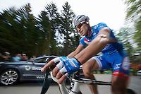 Marco Minnaard (NLD/Wanty-Groupe Gobert) up the Côte de Wanne<br /> <br /> Liège-Bastogne-Liège 2014