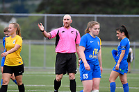 Referee, Simon Morris during the Handa Women's Premiership - Capital Football v Southern United at Petone Memorial Park, Wellington on Saturday 7 November 2020.<br /> Copyright photo: Masanori Udagawa /  www.photosport.nz