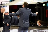27-02-2021: Basketbal: Donar Groningen v Den Helder Suns: Groningen verontwaardiging bij Donar coach Ivan Rudez