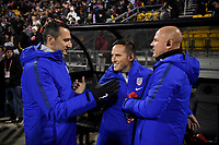 COLUMBUS, OH - NOVEMBER 07: USWNT manager Vlatko Andonovski of the United States celebrates a US goal during a game between Sweden and USWNT at MAPFRE Stadium on November 07, 2019 in Columbus, Ohio.