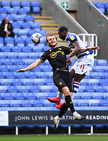 3rd October 2020; Madejski Stadium, Reading, Berkshire, England; English Football League Championship Football, Reading versus Watford; Yakou Meite of Reading competes for the ball with Ben Wilmot of Watford