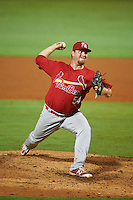 Palm Beach Cardinals relief pitcher Kyle Grana (54) during a game against the Bradenton Marauders on August 9, 2016 at McKechnie Field in Bradenton, Florida.  Bradenton defeated Palm Beach 8-7.  (Mike Janes/Four Seam Images)