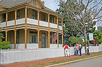 People guided tour Lear Rocheblave House Historic Pensacola Village Pensacola Florida