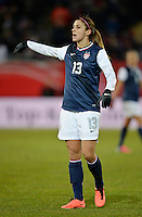 Offenbach, Germany, Friday, April 05 2013: Womans, Germany vs. USA, in the Stadium in Offenbach,  Alex Morgan (USA)..