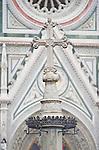 Europe, Italy, Tuscany, Florence, Cross at Duomo, Basilica di Santa Maria del Fiore, Florence's main cathedral