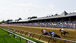 SARATOGA SPRINGS, NY - AUGUST 26: Songbird #2, ridden by Mike Smith leads the field down the stretch in the Personal Ensign Handicap before being caught at the wire by eventual winner Forever Unbridled #4, ridden by Joel Rosario on Travers Stakes Day at Saratoga Race Course on August 26, 2017 in Saratoga Springs, New York. (Photo by Alex Evers/Eclipse Sportswire/Getty Images)