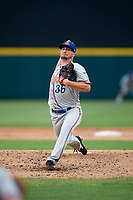 St. Lucie Mets starting pitcher Andrew Church (36) delivers a pitch during the second game of a doubleheader against the Lakeland Flying Tigers on June 10, 2017 at Joker Marchant Stadium in Lakeland, Florida.  Lakeland defeated St. Lucie 9-1.  (Mike Janes/Four Seam Images)