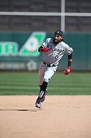 OAKLAND, CA - SEPTEMBER 9:  Billy Hamilton #0 of the Chicago White Sox runs the bases against the Oakland Athletics during the game at the Oakland Coliseum on Thursday, September 9, 2021 in Oakland, California. (Photo by Brad Mangin)