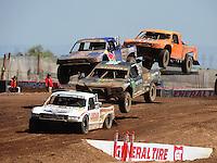 Apr 17, 2011; Surprise, AZ USA; LOORRS driver Carl Renezeder (17) leads Rick Huseman (36), Ricky Johnson (48) and Adrian Cenni (11) during round 4 at Speedworld Off Road Park. Mandatory Credit: Mark J. Rebilas-