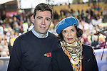 © Joel Goodman - 07973 332324 . 12/11/2016 . Manchester , UK . ANDY BURNHAM and BIANCA JAGGER at the rally . Approximately 2000 people march and rally against Fracking in Manchester City Centre . Photo credit : Joel Goodman