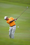 Jeev Milkha Singh of India hits the ball during Hong Kong Open golf tournament at the Fanling golf course on 25 October 2015 in Hong Kong, China. Photo by Xaume Olleros / Power Sport Images