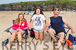 Elaine, Nadine and Mike Noonan enjoying the day on Ballybunion beach on Monday.