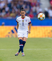 PARIS,  - JUNE 16: Ali Krieger #11 passes the ball during a game between Chile and USWNT at Parc des Princes on June 16, 2019 in Paris, France.