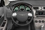 Steering wheel view of a 2008 Chrysler Sebring Convertible