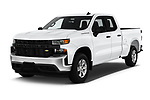 2020 Chevrolet Silverado-1500 WT 4 Door Pick-up Angular Front stock photos of front three quarter view