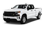 2020 Chevrolet Silverado-1500 WT 4 Door Pick-up Angular Front stock photos of front three quarter view