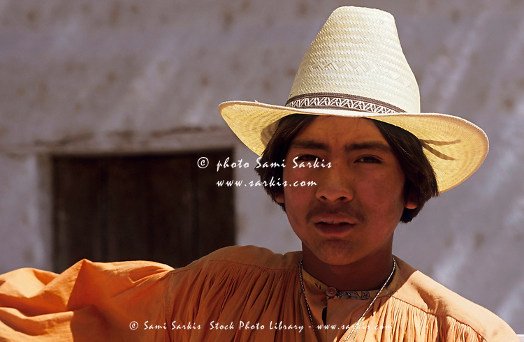 Portrait of a Tarahumaran boy, Chihuahua, Mexico.