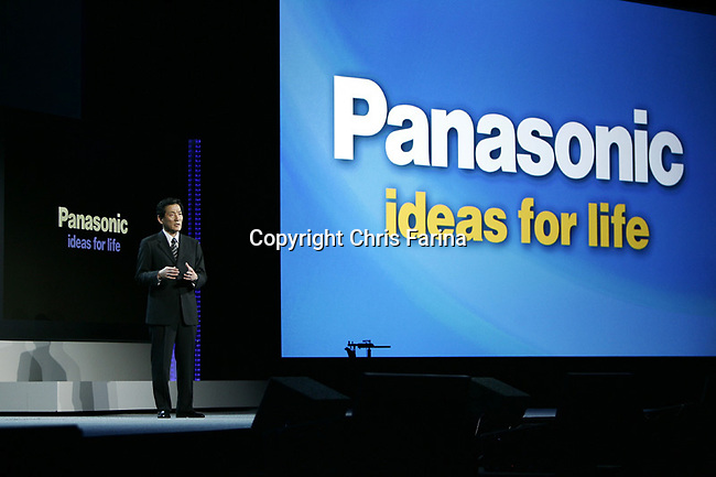 1/7/08,Las Vegas,Nevada  ---  Toshihiro Sakamoto, president of Panasonic AVC Networks delivers a keynote address for the 2008 International Consumer Electronics Show (CES) at the Venetian Resort in Las Vegas.  --- Chris Farina