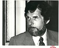 Rodrigue BIRON, chef de l'Union nationale a la tribune du Cercle canadien de Montreal, le 15 janvier 1978, a l'Hotel Windsor<br /> <br /> <br /> PHOTO :  Agence Quebec Presse