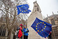 BREXIT scenes in Westminster Houses of Parliament and surrounding area, London, England on 16 January 2019. Photo by Andy Rowland.