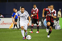 Angel Di Maria (22) of Real Madrid. Real Madrid defeated A. C. Milan 5-1 during a 2012 Herbalife World Football Challenge match at Yankee Stadium in New York, NY, on August 8, 2012.