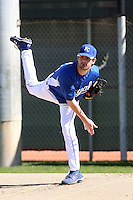 Aaron Crow #43 of the Kansas City Royals participates in spring training workouts at the Royals complex on February 21, 2011  in Surprise, Arizona. .Photo by:  Bill Mitchell/Four Seam Images.