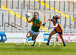 Emma Dineen, Kerry in action against Caoimhe Harvey, Clare in the Lidl Ladies National Football League Division 2A Round 2 at Austin Stack Park, Tralee on Sunday.