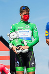 Green Jersey Fabio Jakobsen (NED) Deceuninck-Quick-Step at sign on before the start of Stage 16 of La Vuelta d'Espana 2021, running 180km from Laredo to Santa Cruz de Bezana, Spain. 31st August 2021.     <br /> Picture: Cxcling   Cyclefile<br /> <br /> All photos usage must carry mandatory copyright credit (© Cyclefile   Cxcling)