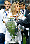 Richard Gere's girlfriend Alejandra Silva celebrates the victory in the UEFA Champions League 2015/2016 Final match. May 28,2016. (ALTERPHOTOS/Acero)