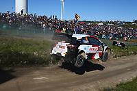 23rd May 2021; Felgueiras, Porto, Portugal; WRC Rally of Portugal, stages SS16-SS20;  Takamoto Katsuka-Toyota Yaris WRC