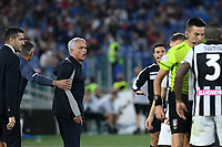 23rd September 2021;  Stadio Olimpicom, Roma, Italy; Serie A League Football, Roma versus Udinese; Roma trainer Jose Mourinho gets upset with the officials