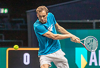 Rotterdam, The Netherlands, 9 Februari 2020, ABNAMRO World Tennis Tournament, Ahoy, Practise: Danill Medvedev (RUS)<br /> Photo: www.tennisimages.com