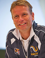 Austria, Kitzbuhel, Juli 14, 2015, Tennis, Davis Cup, Training Dutch team at the the press conference, Captain Jan Siemerink,<br /> Photo: Tennisimages/Henk Koster