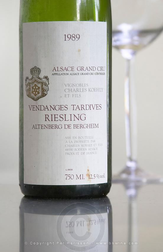 riesling altenberg de bergheim gc vendanges tardives 1989 dom c koehly rodern alsace france