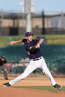 Matt Heidenreich #35 of the Lancaster JetHawks pitches against the Stockton Ports at The Hanger on June 24, 2014 in Lancaster, California. Stockton defeated Lancaster, 6-4. (Larry Goren/Four Seam Images)