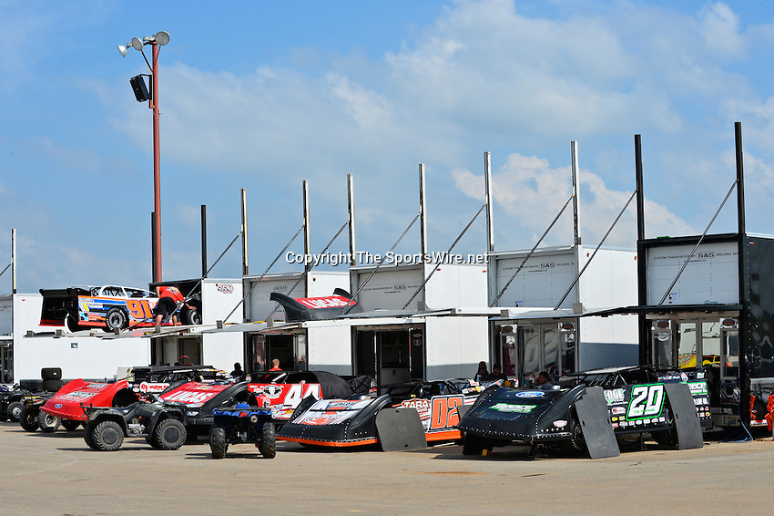 May 22, 2014; 3:54:20 PM; Wheatland, Mo., USA; The  Lucas Oil Late Model Dirt Series running the 22nd Annual Lucas Oil Show-Me 100 Presented by ProtectTheHarvest.com.  Mandatory Credit: (thesportswire.net)