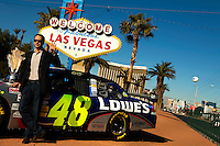 12/02/09: NASCAR Sprint Cup Series Champion Jimmie Johnson  during Day 1 of the NASCAR Sprint Cup Series Champions Week on December 2, 2009 in Las Vegas, Nevada.