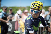 Nairo Quintana (COL/Movistar) at the start<br /> <br /> stage 16: Morain-en-Montagne to Bern (SUI) / 209km<br /> 103rd Tour de France 2016
