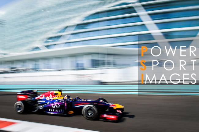 drives during the Abu Dhabi Formula One Grand Prix 2013 at the Yas Marina Circuit on November 3, 2013 in Abu Dhabi, United Arab Emirates. Photo by Victor Fraile / The Power of Sport Images