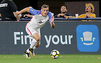 Arlington, TX - Saturday July 22, 2017: Jordan Morris during a 2017 Gold Cup Semifinal match between the men's national teams of the United States (USA) and Costa Rica (CRC) at AT&T stadium.